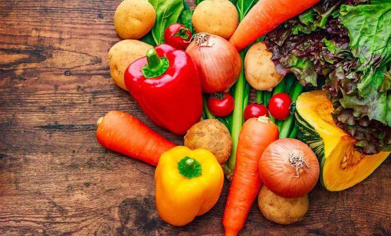 frutta, verdura e olio di oliva